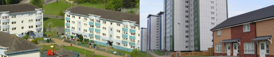 Photo of West Whitlawburn low rise and multi storey properties.